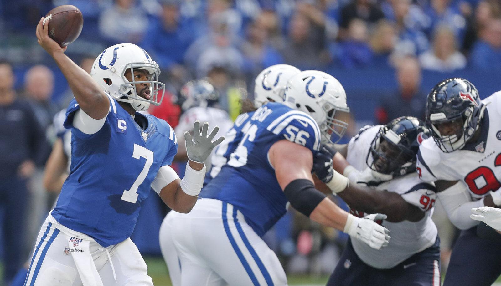 Jacoby Brissett söötis neli touchdowni.