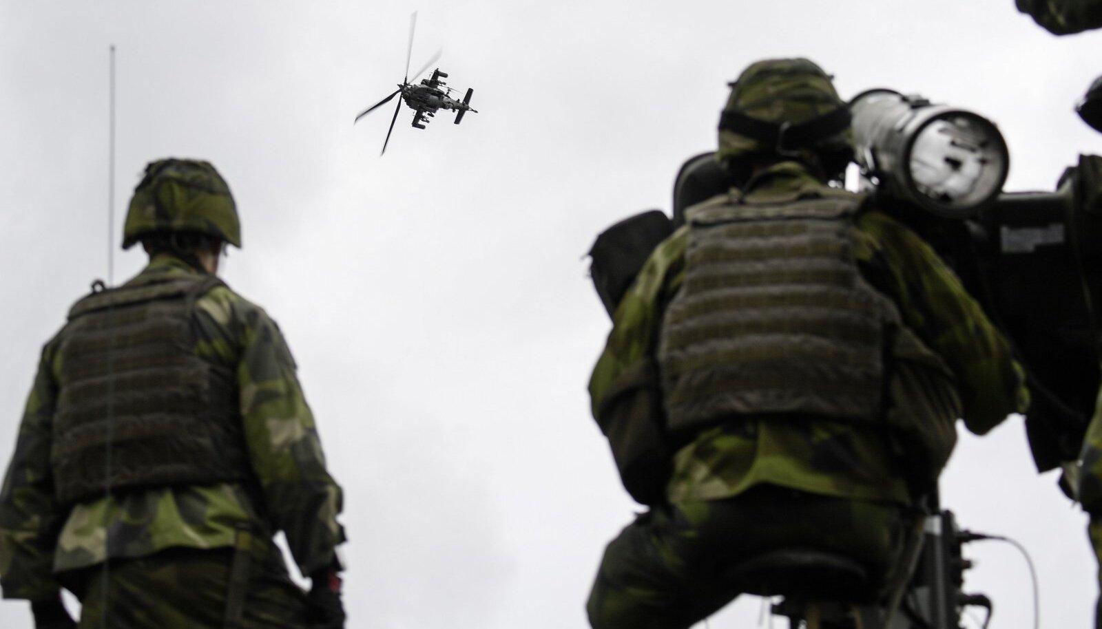 Rootsi õhutõrjerühm septembris 2017 Soome ja kuue NATO riigiga peetud ühisõppusel
