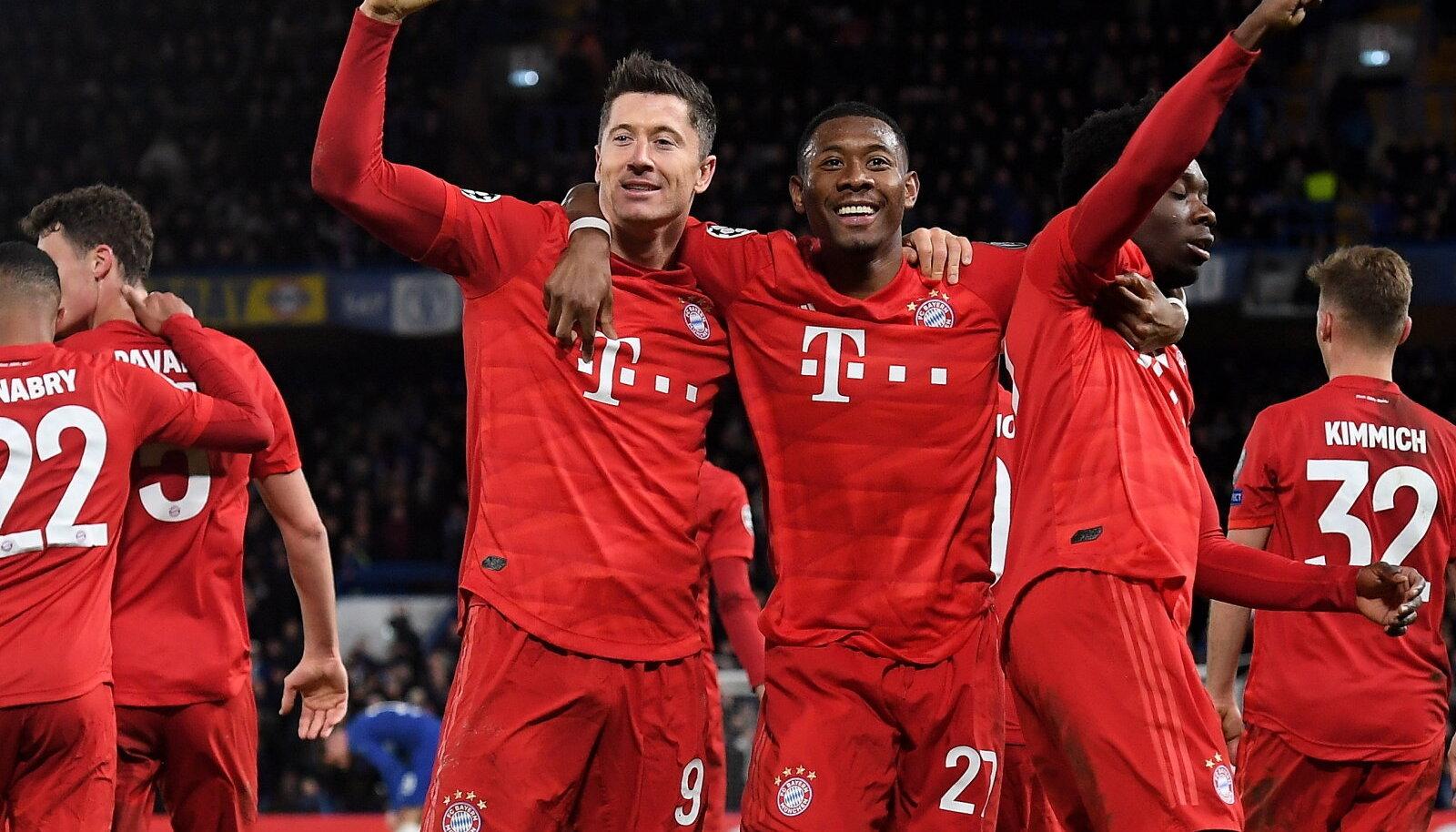 Müncheni Bayerni mängijad astusid suure sammu veerandfinaali suunas.