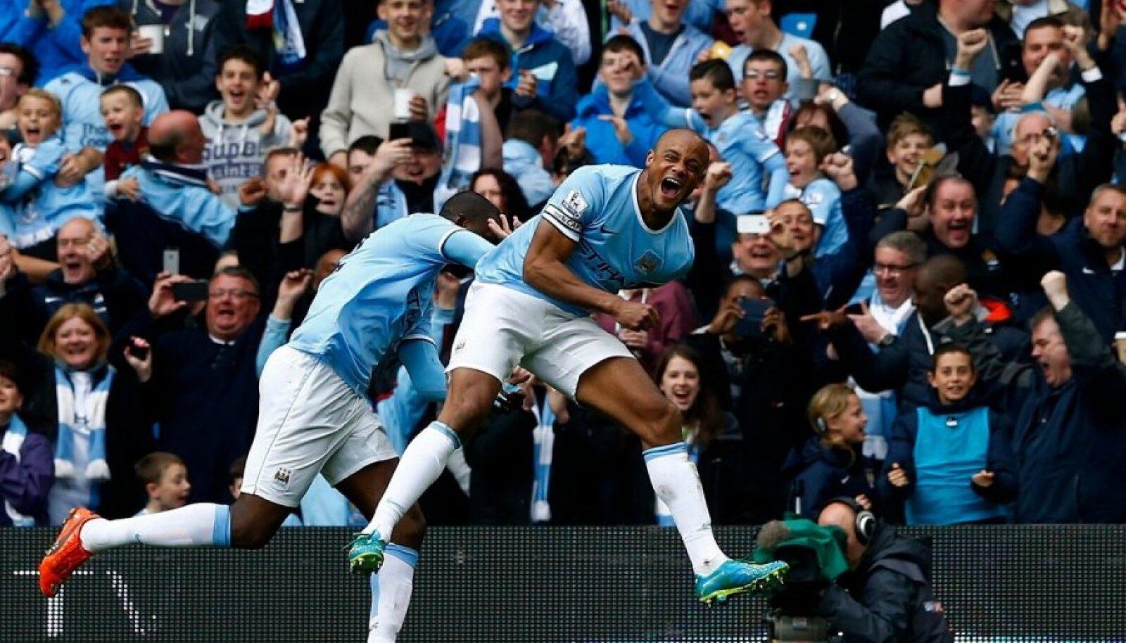 Manchester City juubeldab