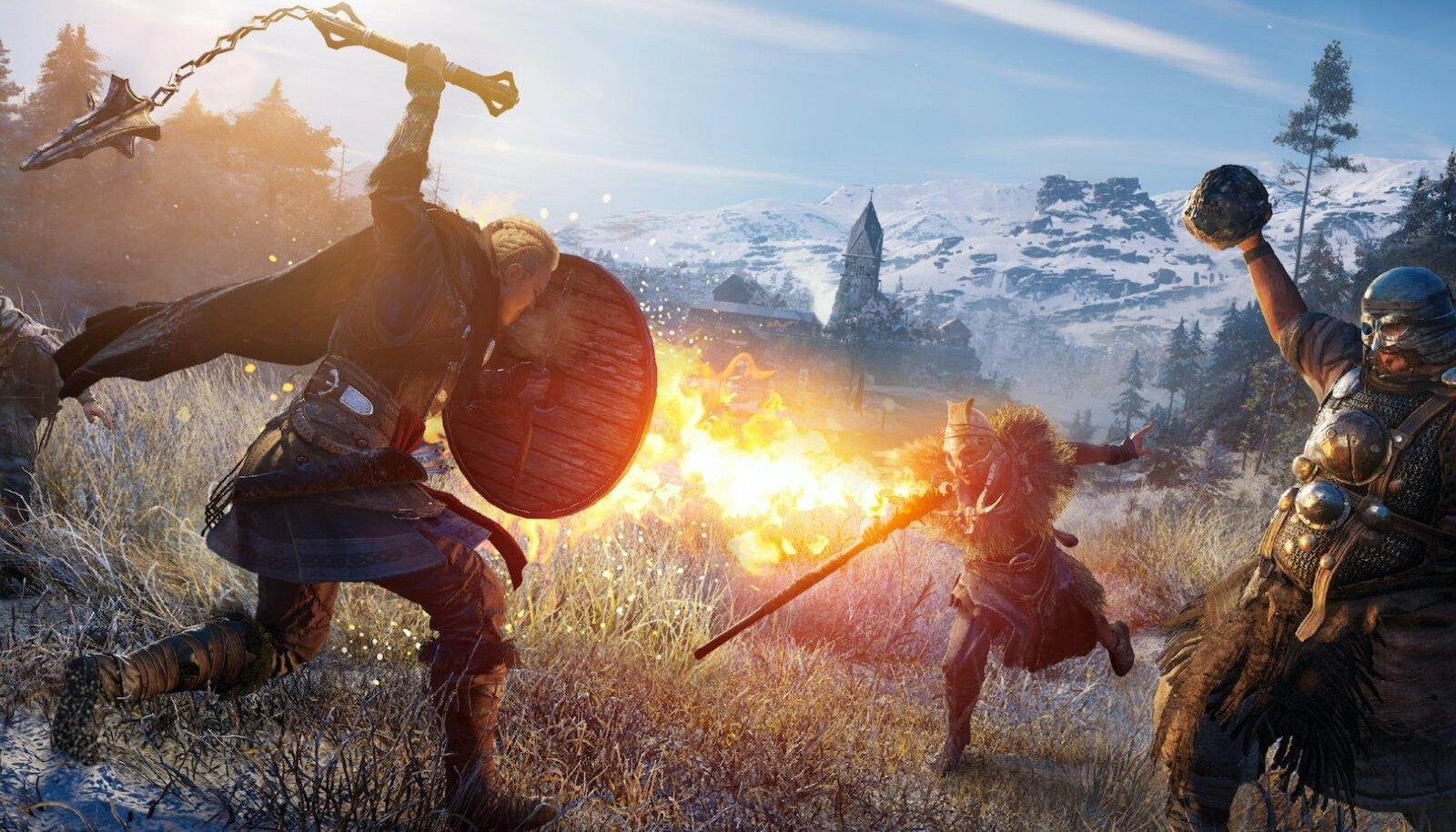 """Nii PS5 kui ka uute Xboxide algse mänguvaliku pärl saab olema """"Assassins Creed Valhalla"""" (tootja Ubisofti pilt), mis ilmub samas ka Windowsi, PS4, Xbox One'i ja Stadia väljalasetes"""