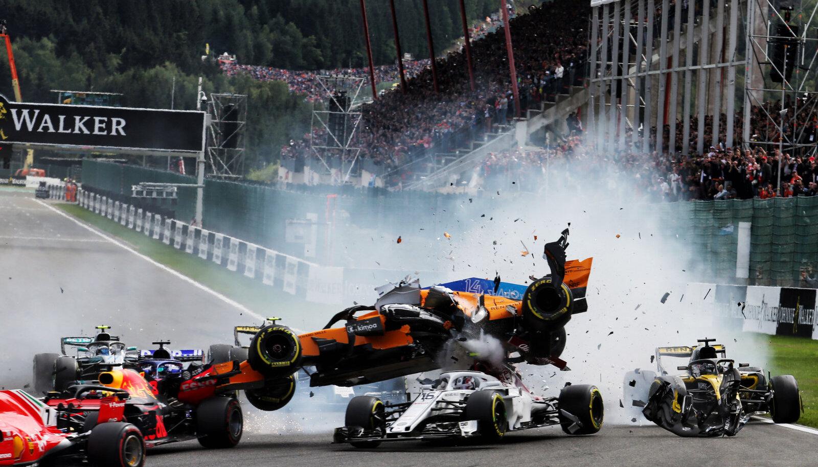Nico Hülkenbergi põhjustatud avarii Belgia GP-l