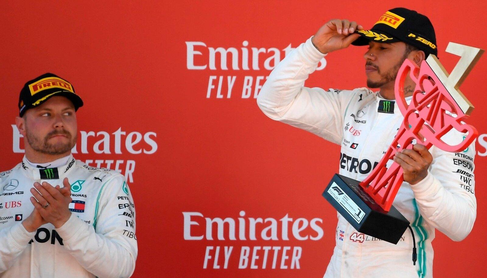 Valtteri Bottase hea hoog võib Lewis Hamiltoni enesekindlust murendada.