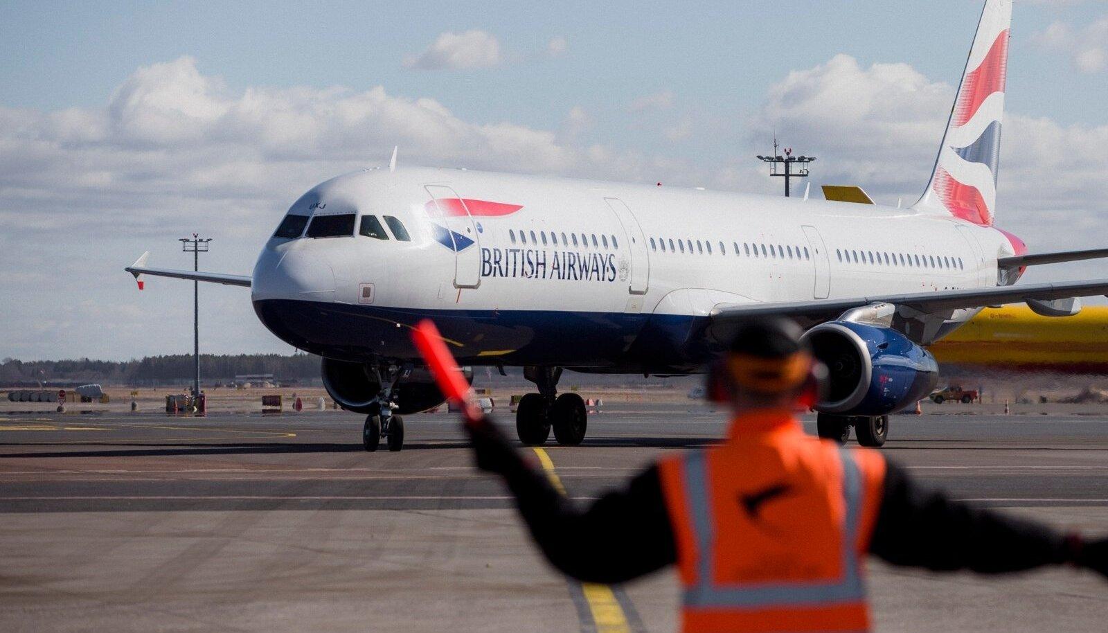 British Airways esimene lend Tallinnas