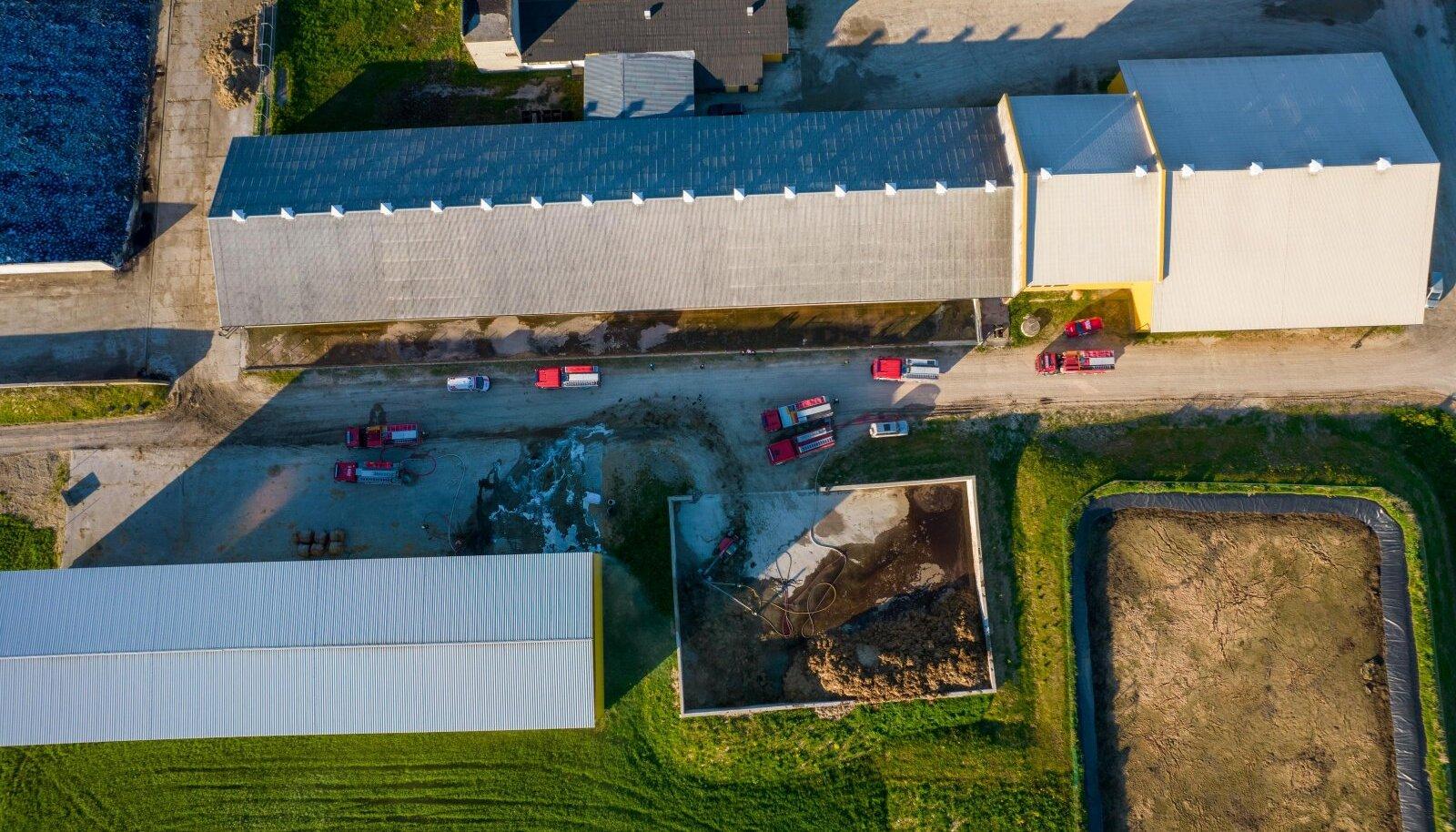 Jõgevamaal põlesid farmis põhupallid