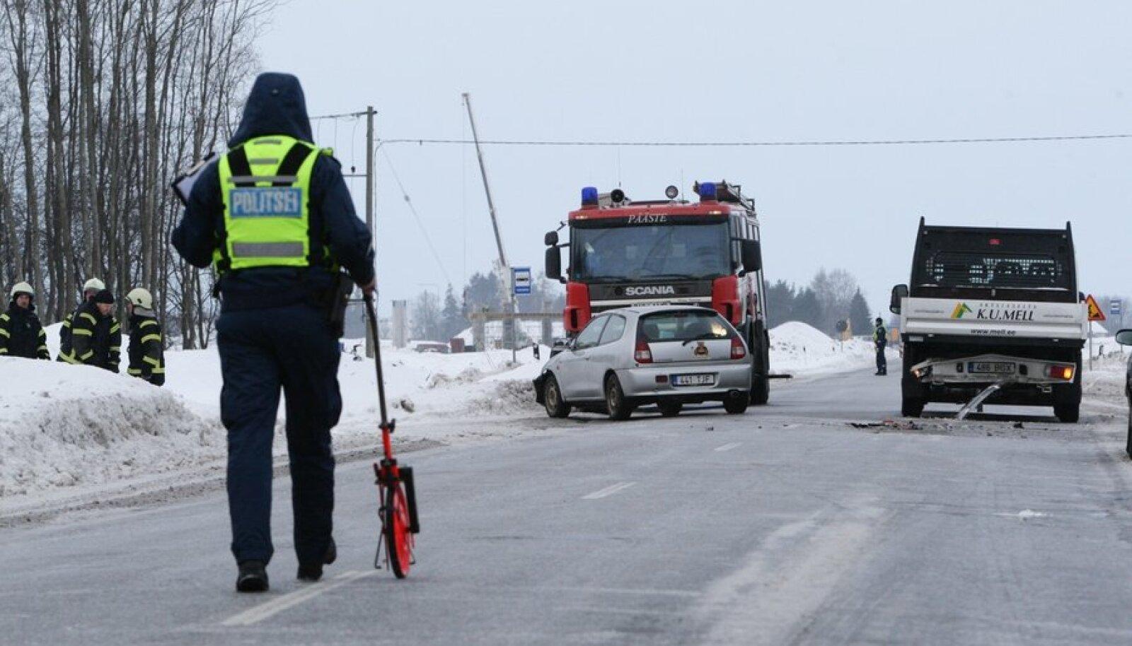 Liiklusõnnetus Kuivajõe-Kose teelõigul