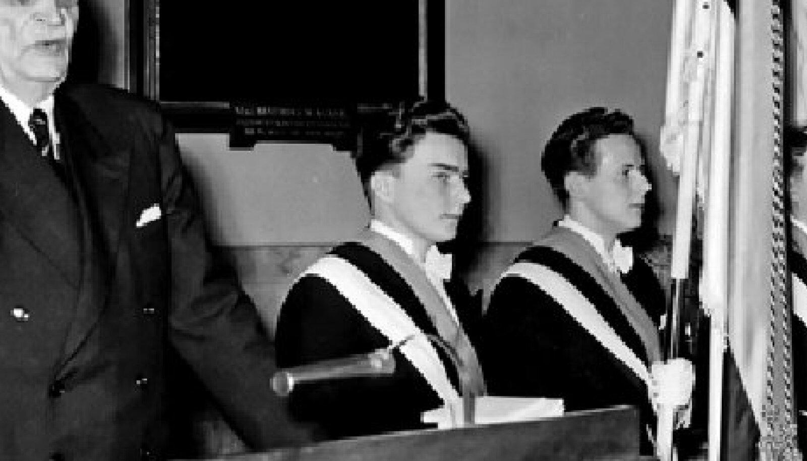 Johan Kõpp esinemas Rootsis Eesti Üliõpilaste Seltsi 82. aastapäeval 24. märtsil 1952