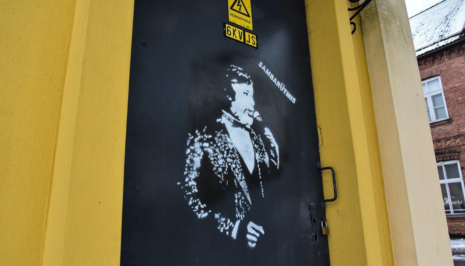 Vello Orumetsa grafiti alajaama uksel