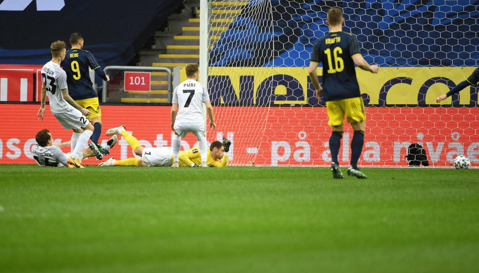 Rootsi läks juba neljandal minutil kohtumist juhtima.