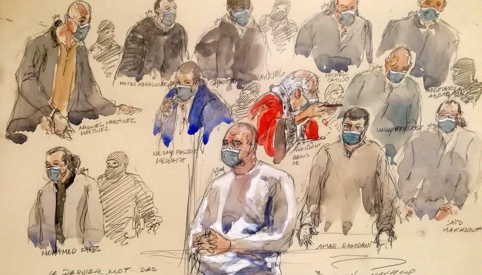 TERROR PRANTSUSMAAL: Möödunud aastal astusid kohtu ette 14 isikut, keda süüdistatakse juudi supermarketis Hyper Cacher ja ajakirja Charlie Hebdo toimetuse vastu korraldatud terrorirünnakute toimepanijate abistamises.