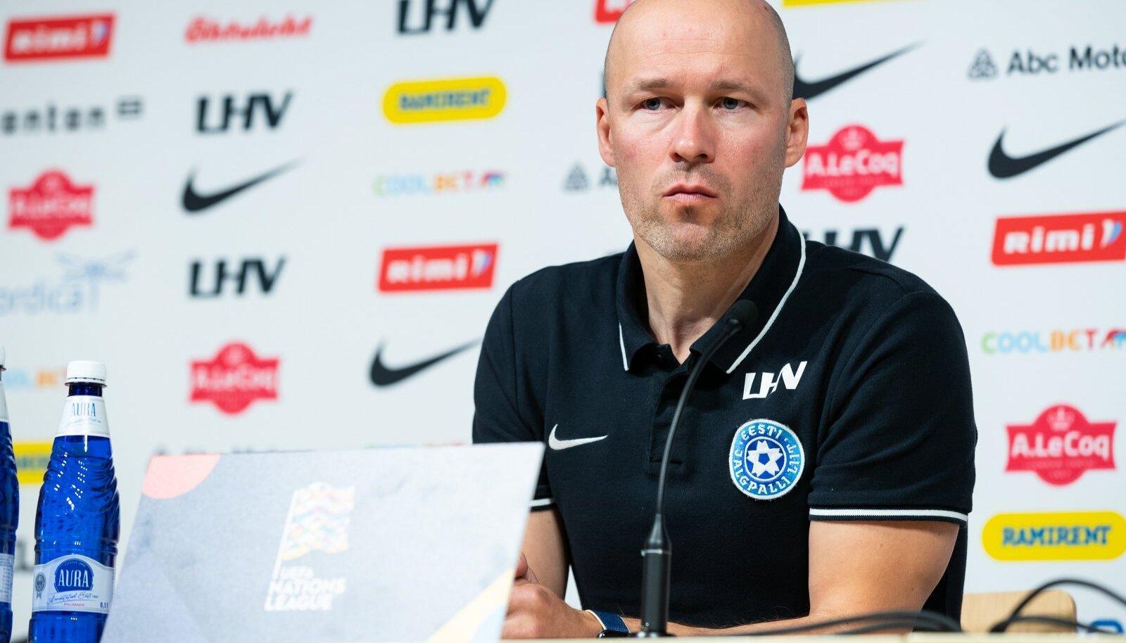 Eesti jalgpallikoondise pressikonverents ja treening 04.09.2020