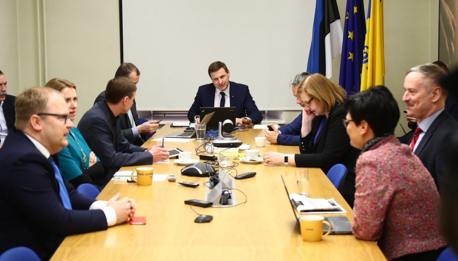 Reformierakonna tänane juhatuse koosolek