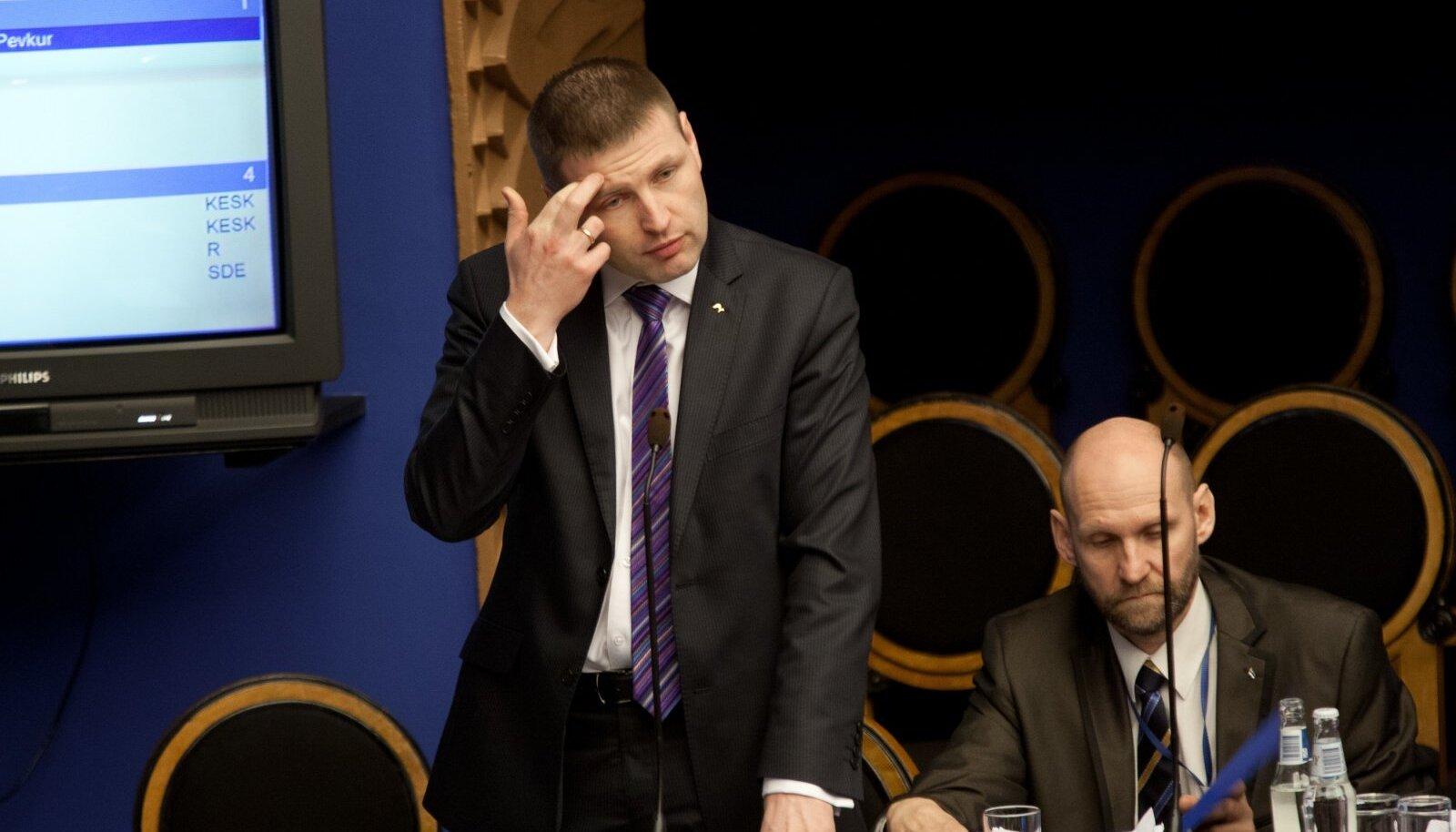Pevkur ja Seeder valitakse täna tõenäoliselt parlamendi aseesimeesteks.