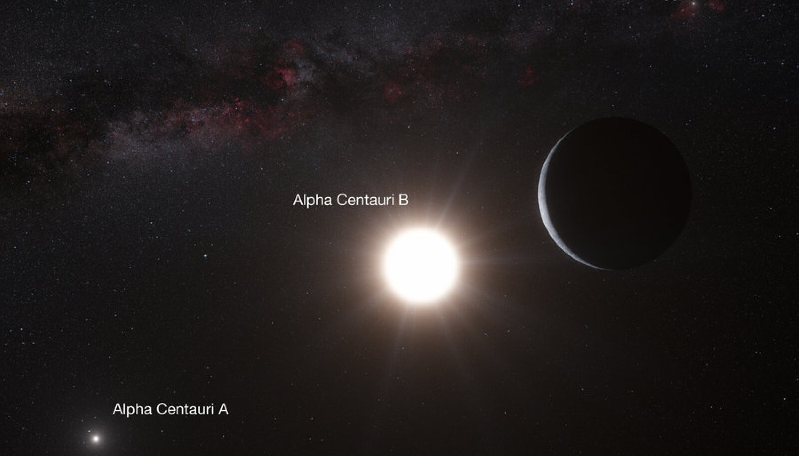 Alpha Centauri Bb. ESO/L. Calçada/N. Risinger