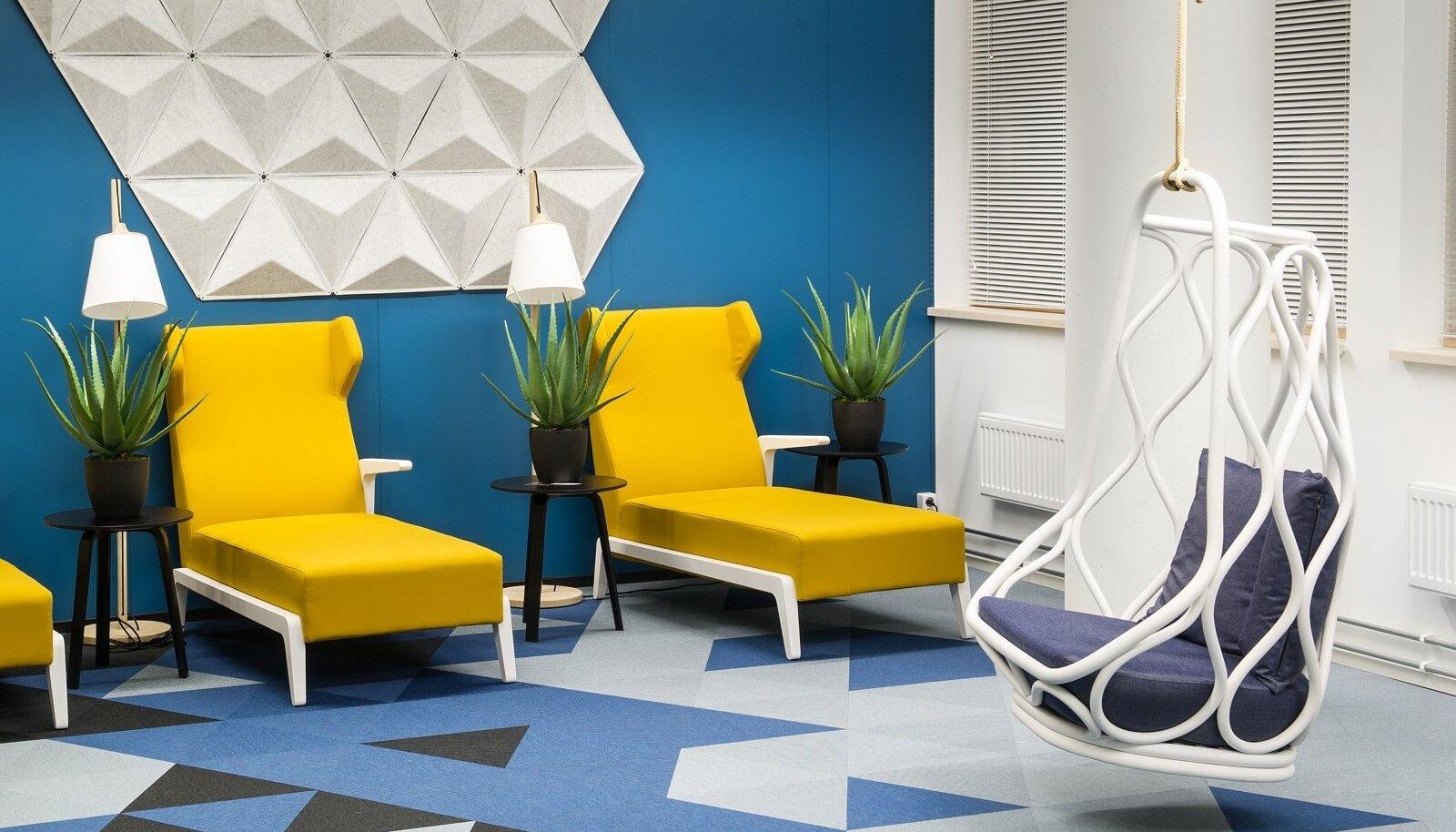 Playtech Estonia kontor Tallinnas. Sisearhitekt Jan Skolimowski firmast KAMP Arhitektid, sisustuspartner Elke Mööbel.