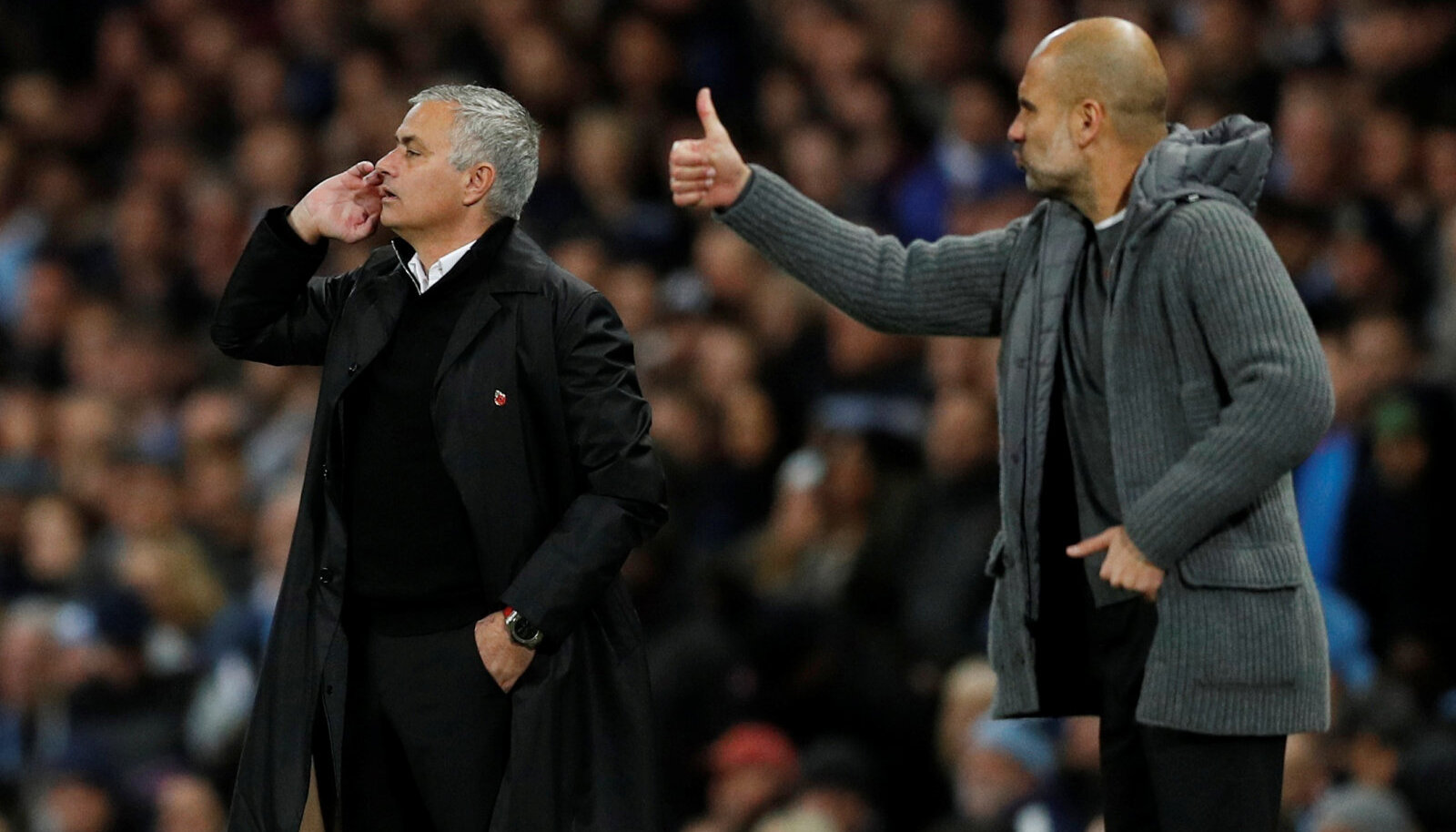 Jose Mourinho ja Pep Guardiola
