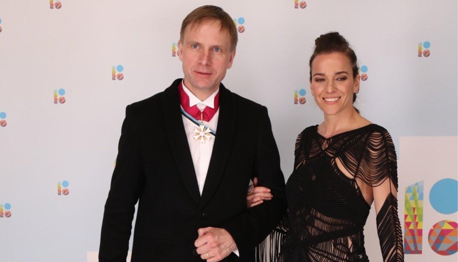Eerik-Niiles Kross ja abikaasa Mary Jordan-Kross