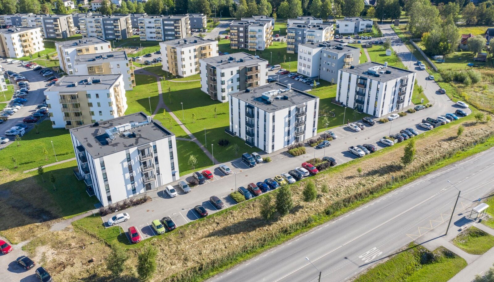 Droonipildid Tallinna magalatest