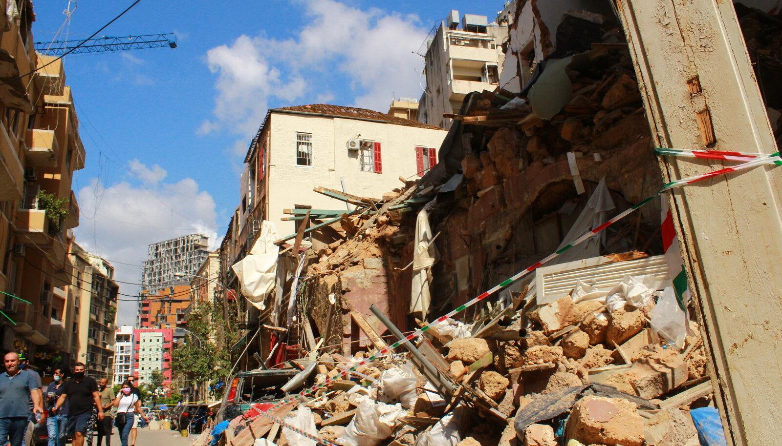 Beiruti plahvatuse järgsed kahjud, mida aitasid likvideerida ka Eesti organisatsioonid.