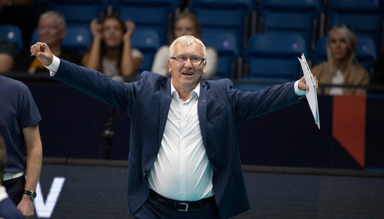 Läti võrkpallikoondise peatreener Avo Keel.