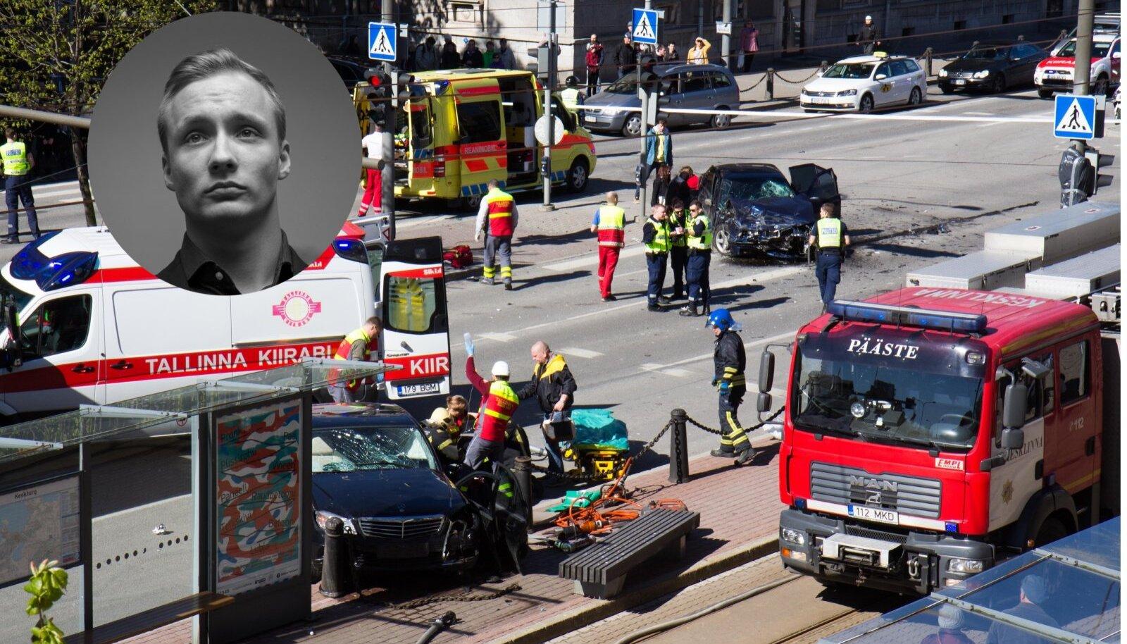 13 OHVRIT: Ristmikule sõites oli Oliver Kobingu juhitud BMW kiirus 103 km/h.