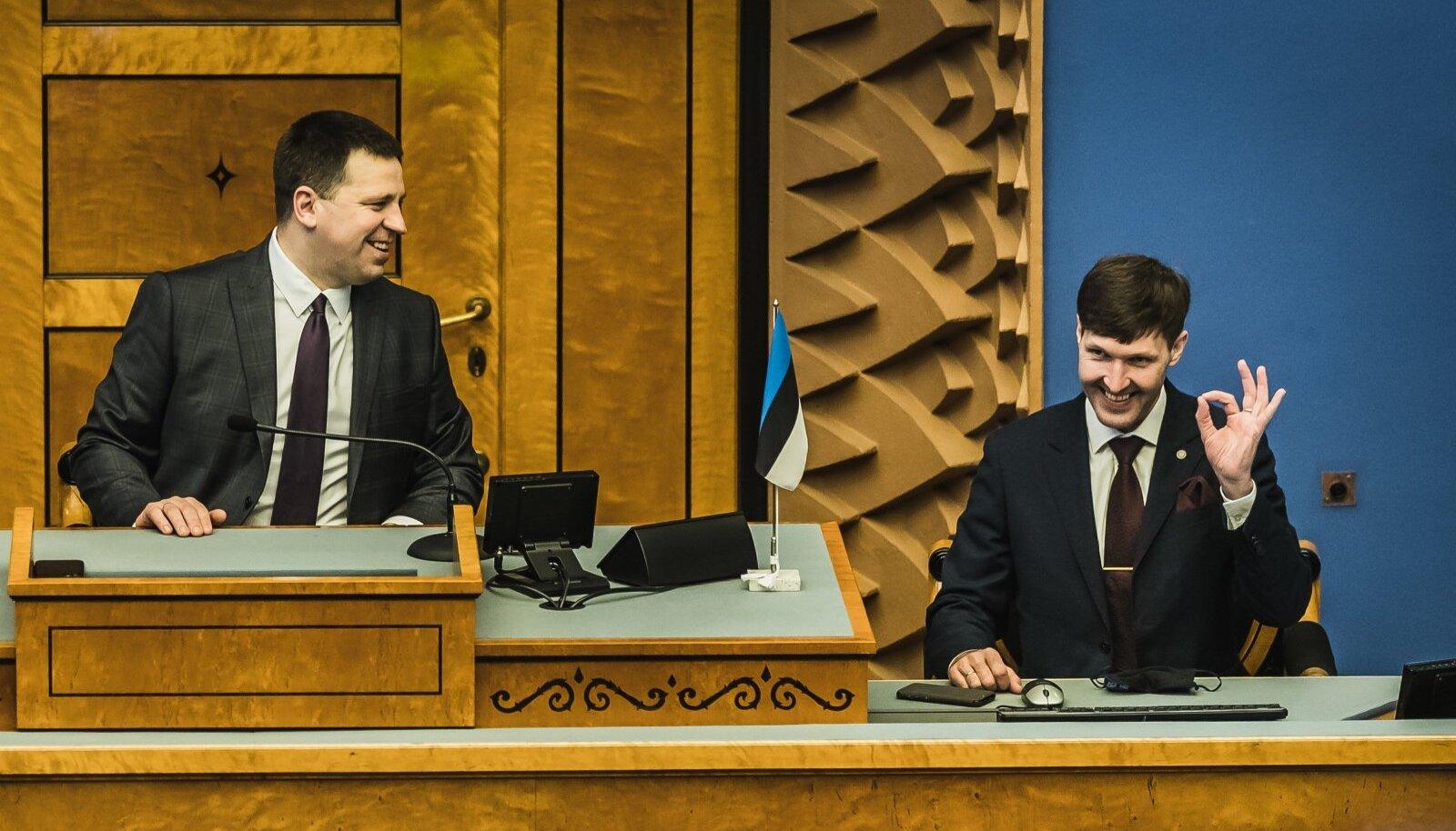 HEA TUJU: Jüri Ratase peaministriks naasmise võimalus kõigile head tuju ei tekita.