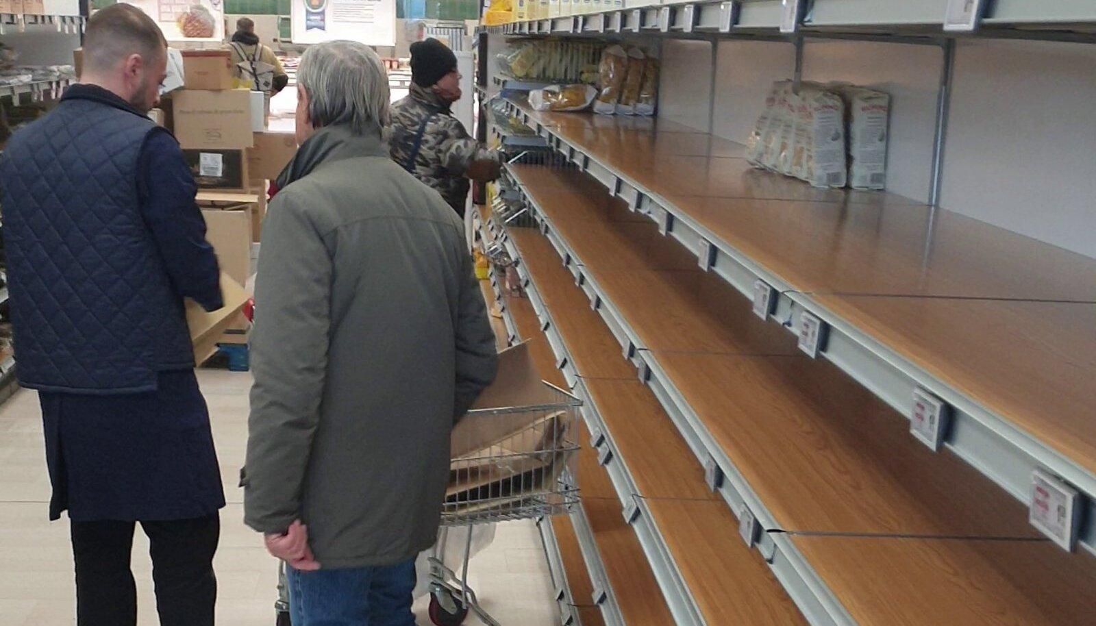 Itaalia Esselunga supermarketi riiulid