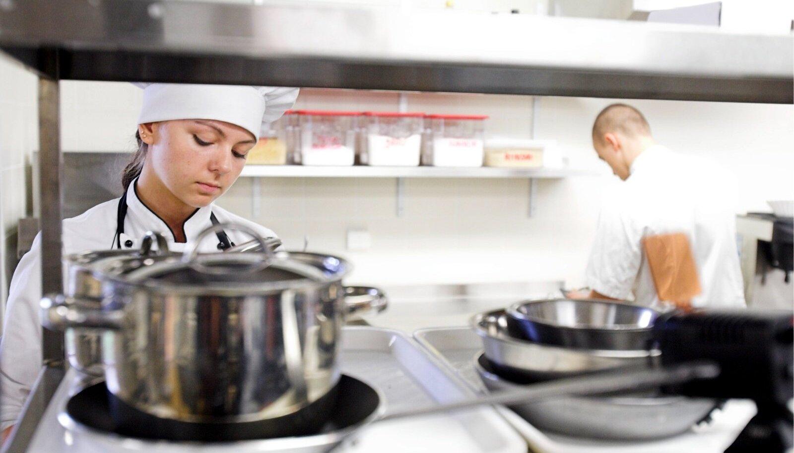 Toitlustuse eriala valivad meelsasti nii noored kui ka täiskasvanud õppurid.