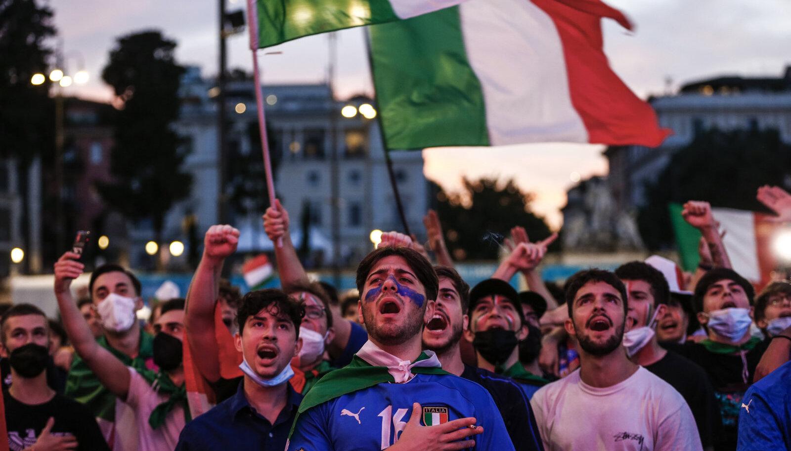 Itaalia fännid Roomas