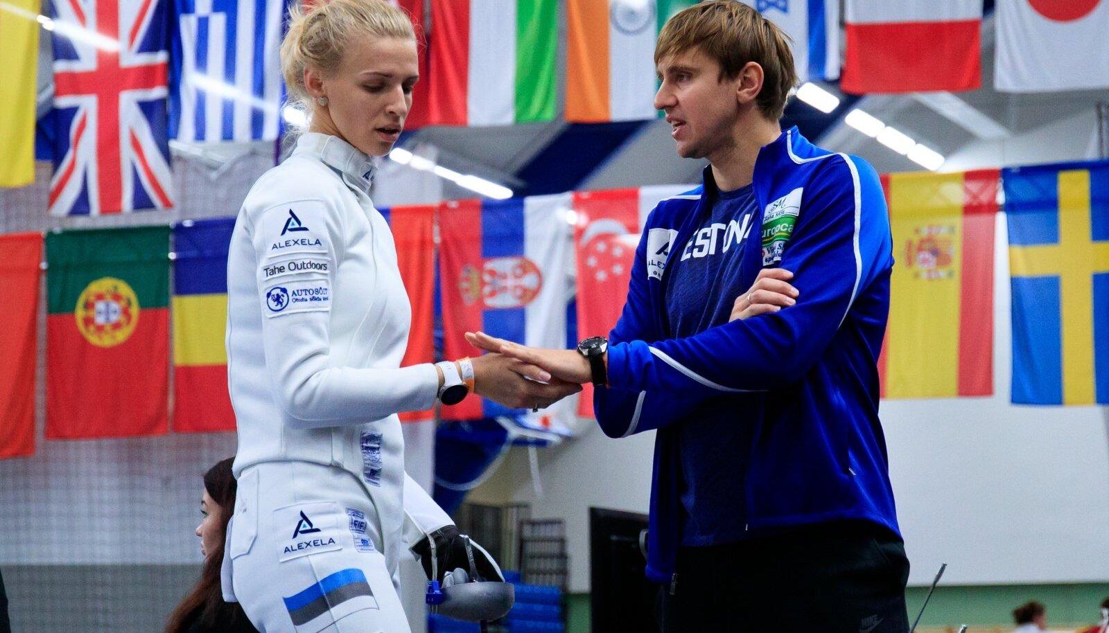 Katrina Lehis ja  Nikolai Novosjolov