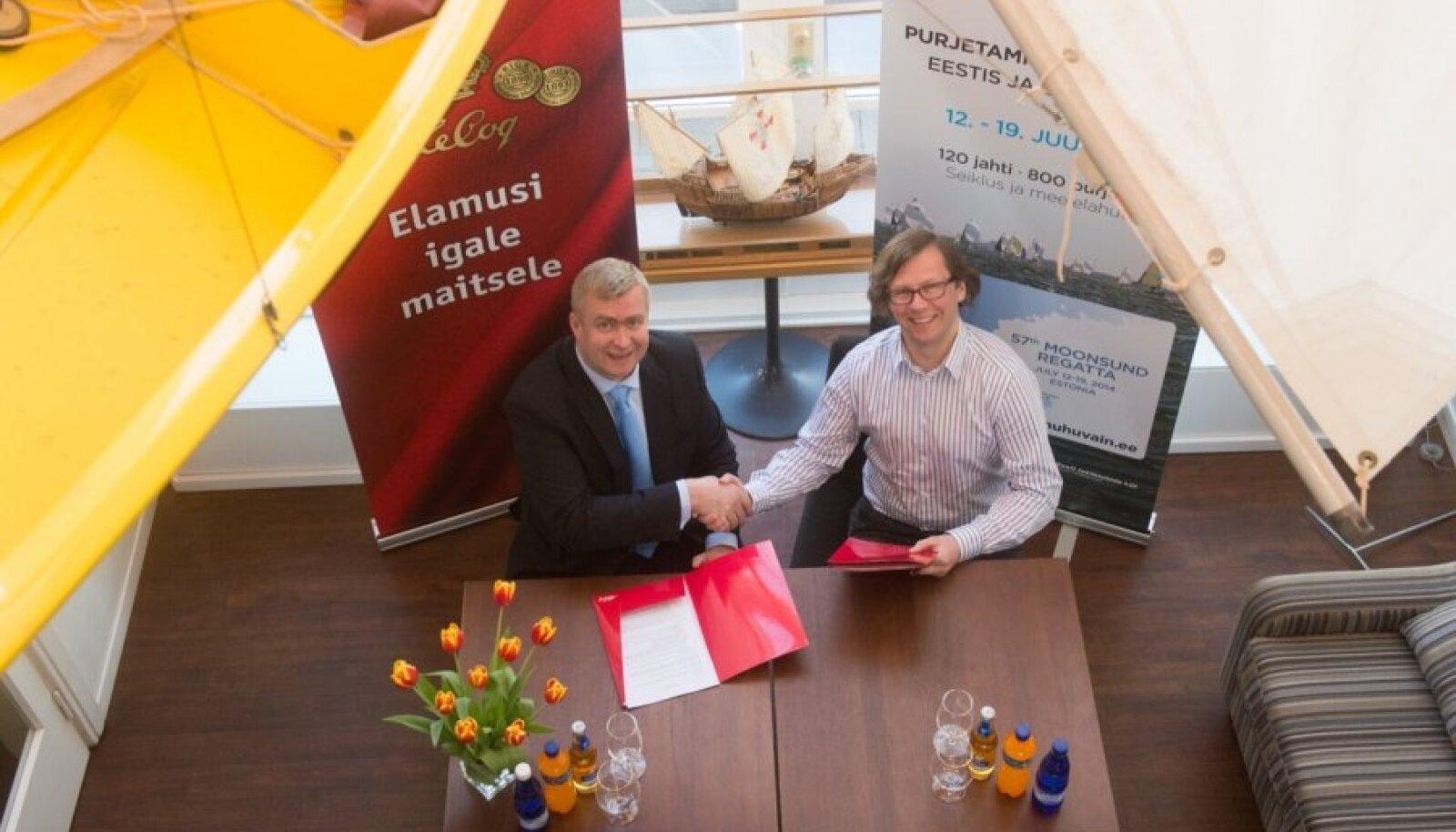 Muhu Väina regati sponsorlepingu allkirjastamine
