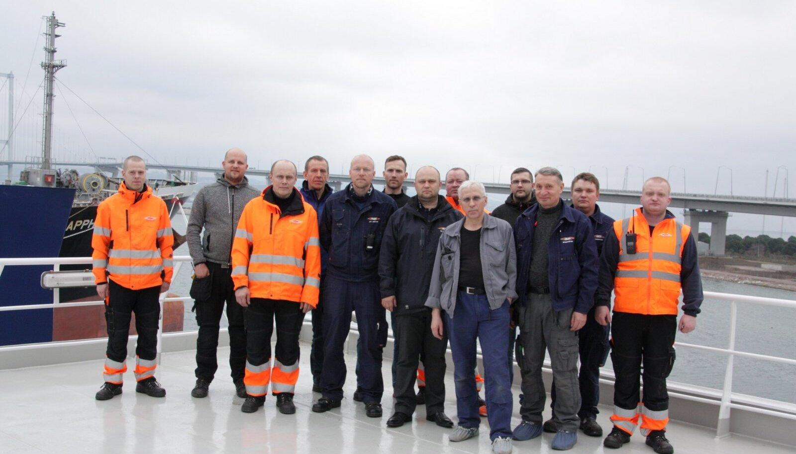 Parvlaev Tiiu meeskond Türgis
