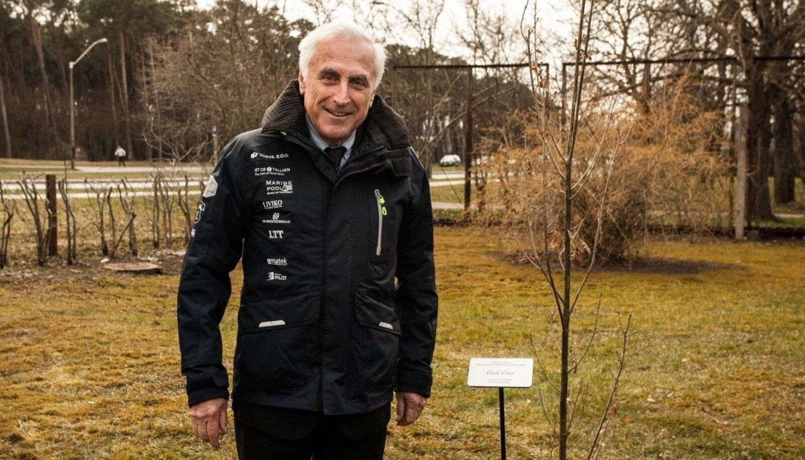Carlo Croce ja tema istutatud tamm Kalev Jahtklubis