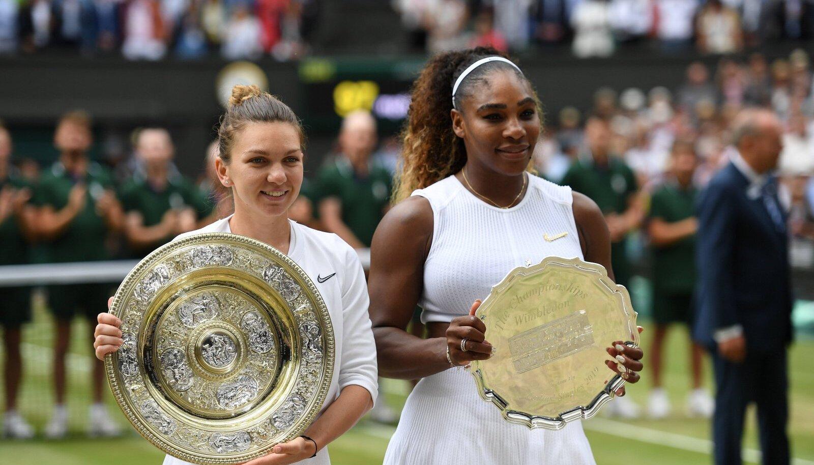 Simona Halep ja Serena Williams.
