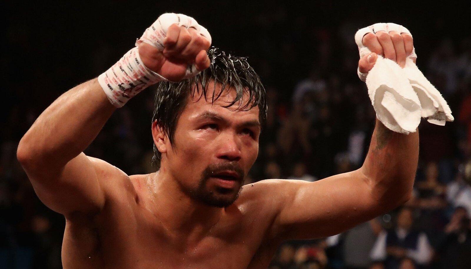 Manny Pacquiao 2019. aasta jaanuaris Las Vegases pärast võitu Adrien Broner üle.