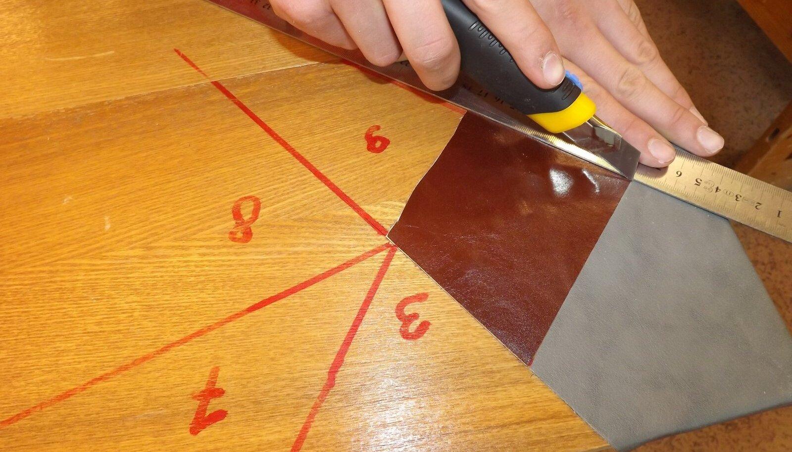 Detailide servad lõigake sirgeks siis, kui liim on juba kuivanud.
