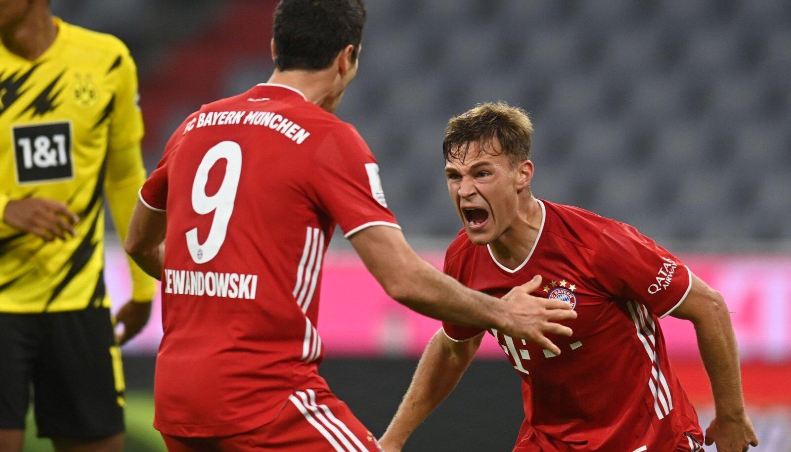Bayerni võiduvärava löönud Joshua Kimmich (paremal).