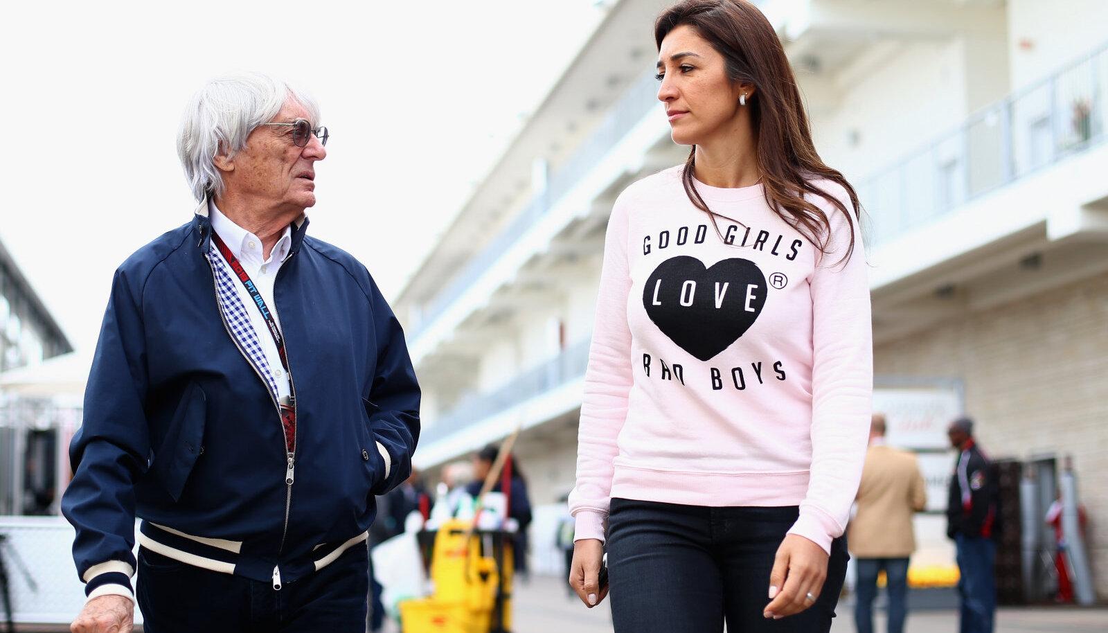 Bernie Ecclestone ja Fabiana Flosi