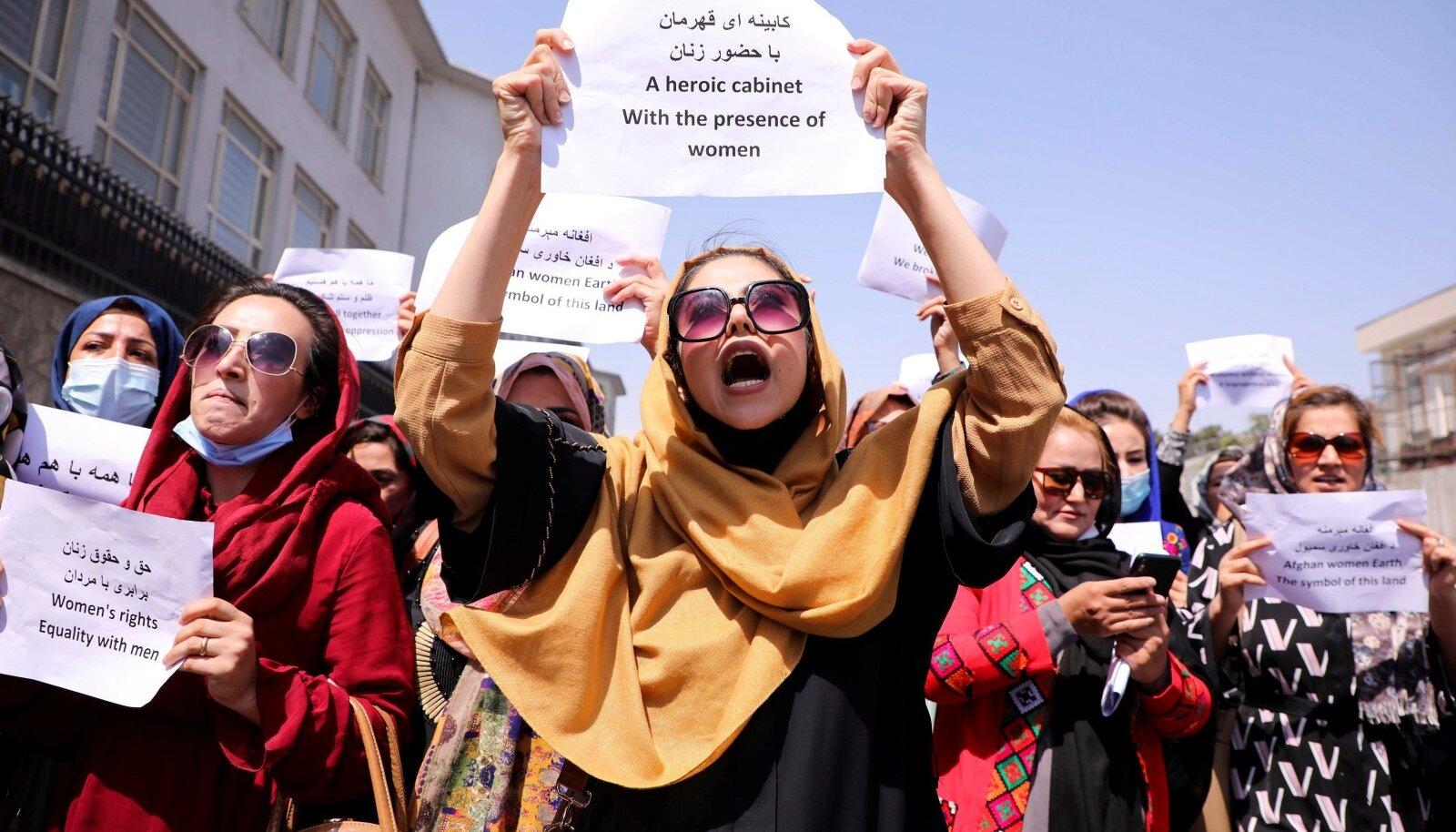 Afgaani naised nõuavad esindatust riigi uues valitsuses