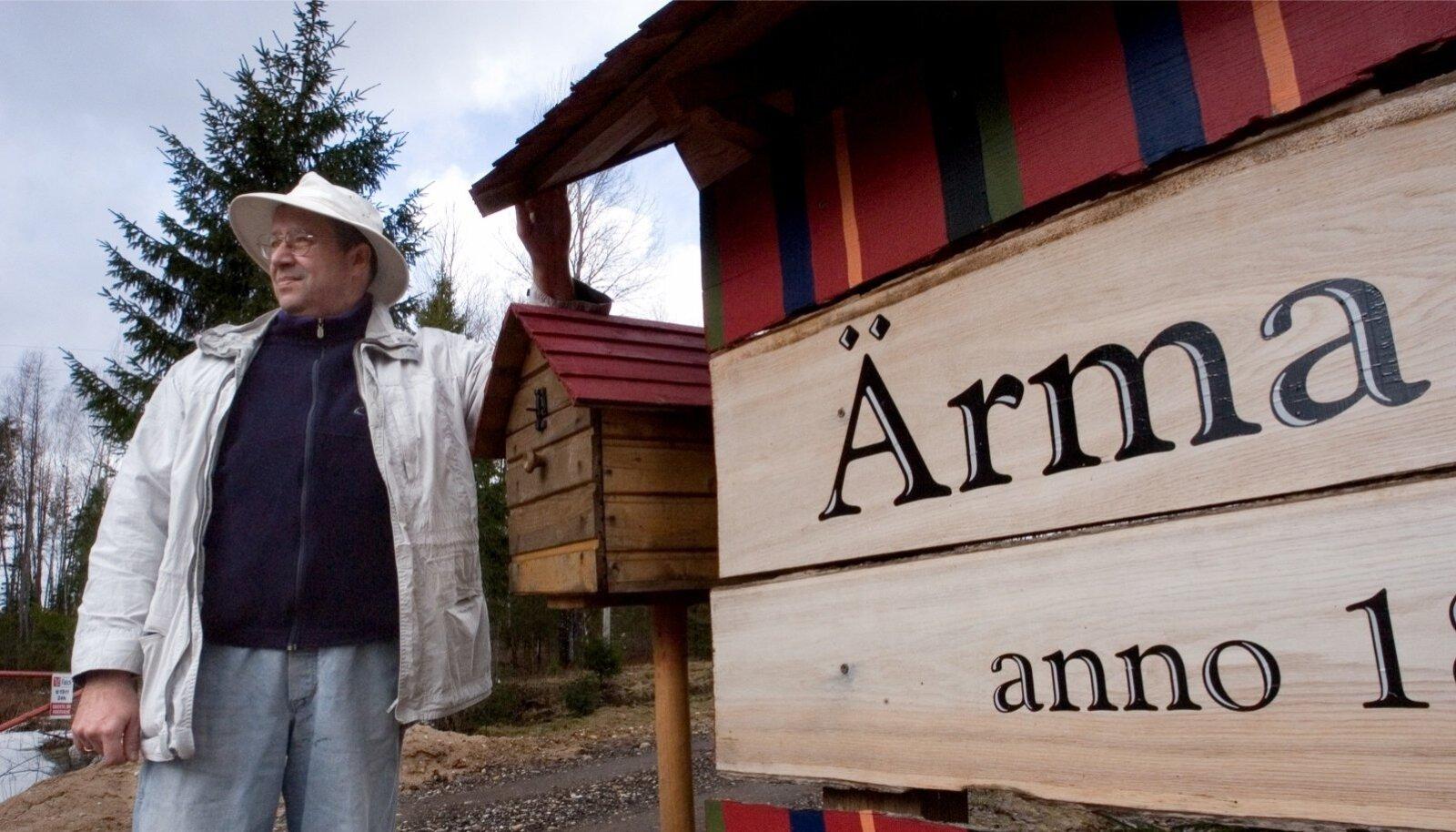 Toomas Hendrik Ilves Ärma talus 2006. aastal