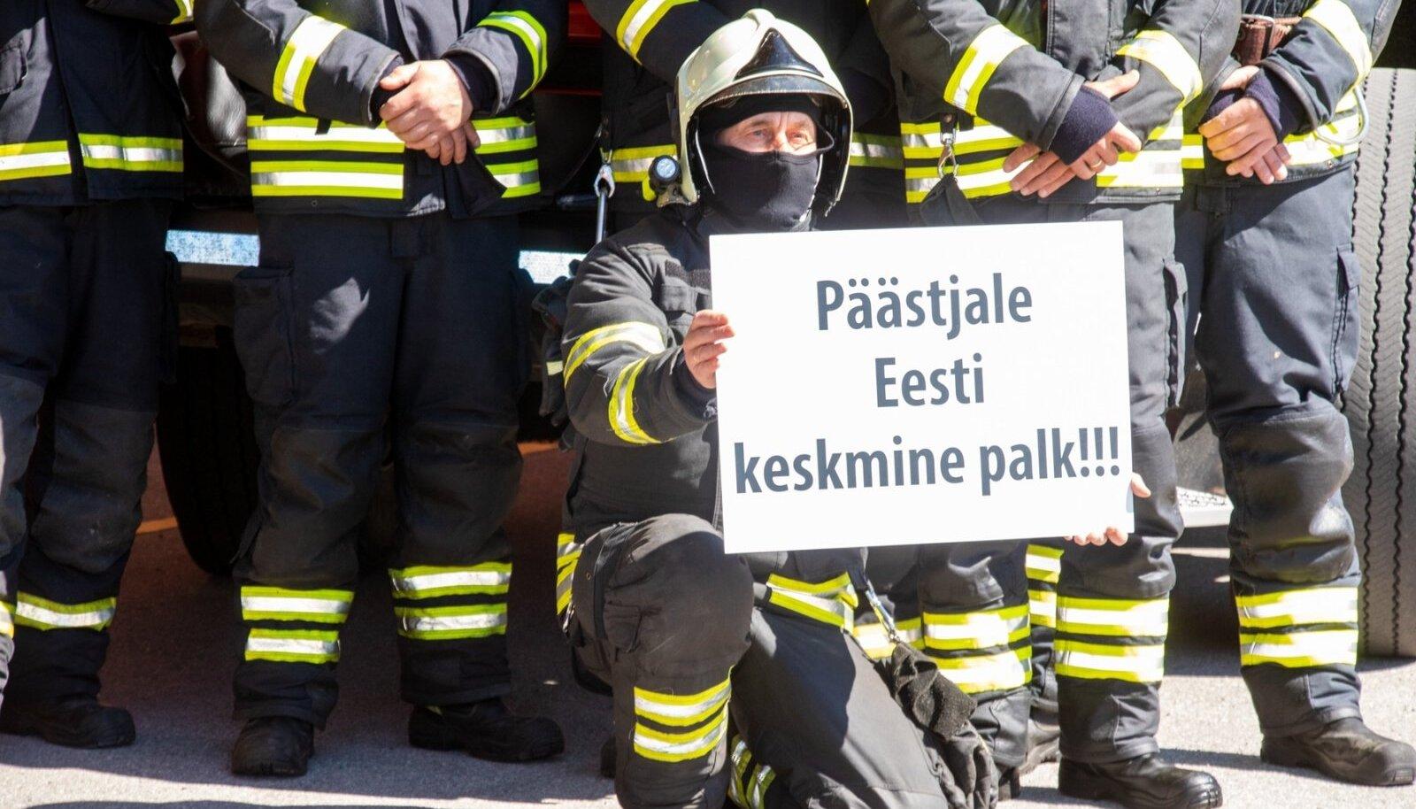 Päästjate virtuaalne meeleavaldus palga suhtes Kuressaares