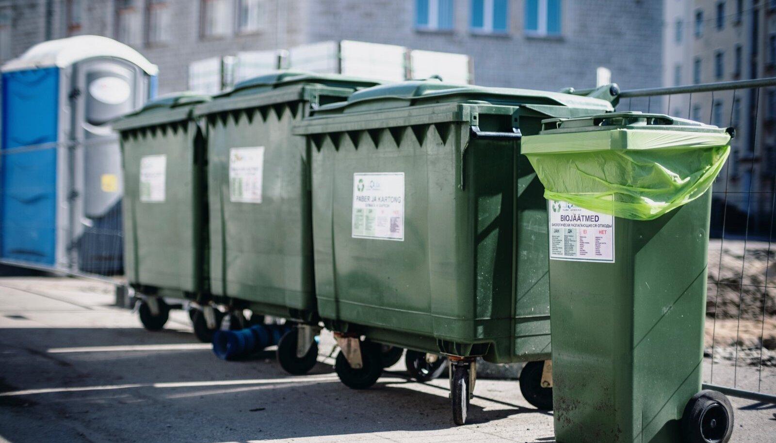 Prügikastid Tallinnas Gonsiori tänaval