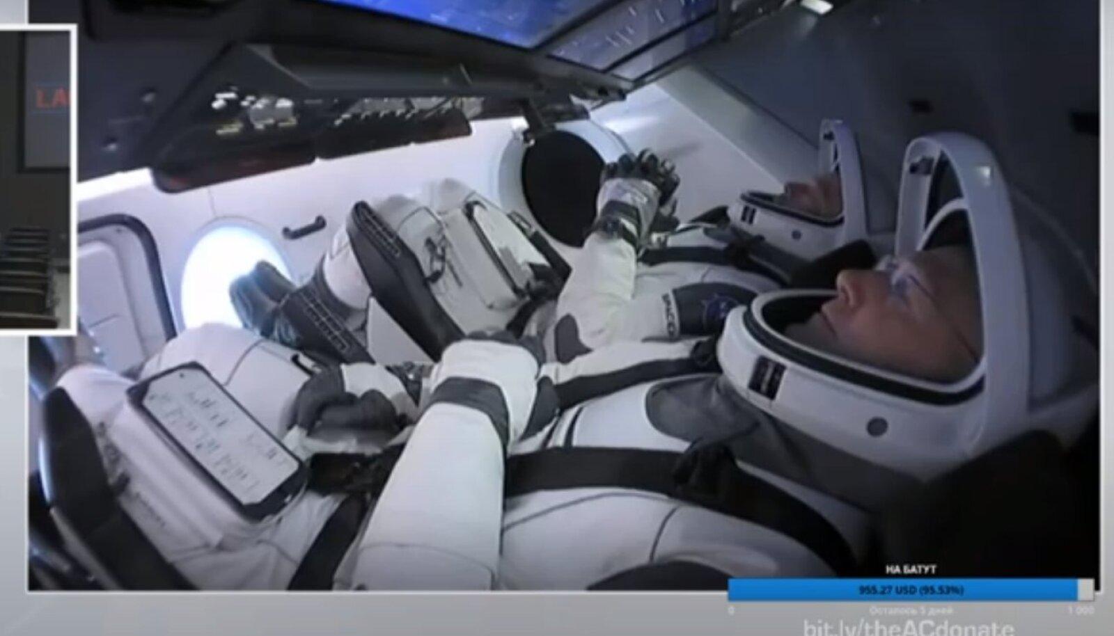 Запуск первого пилотируемого корабля Илона Маска
