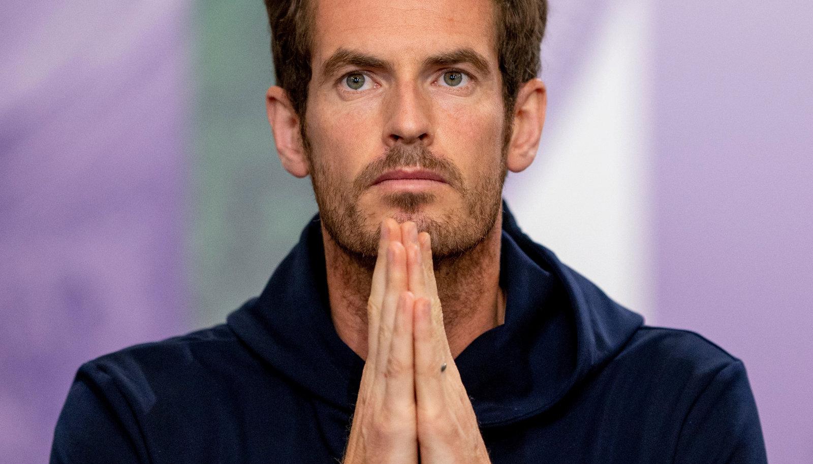 Andy Murray Wimbledoni pressikonverentsil.