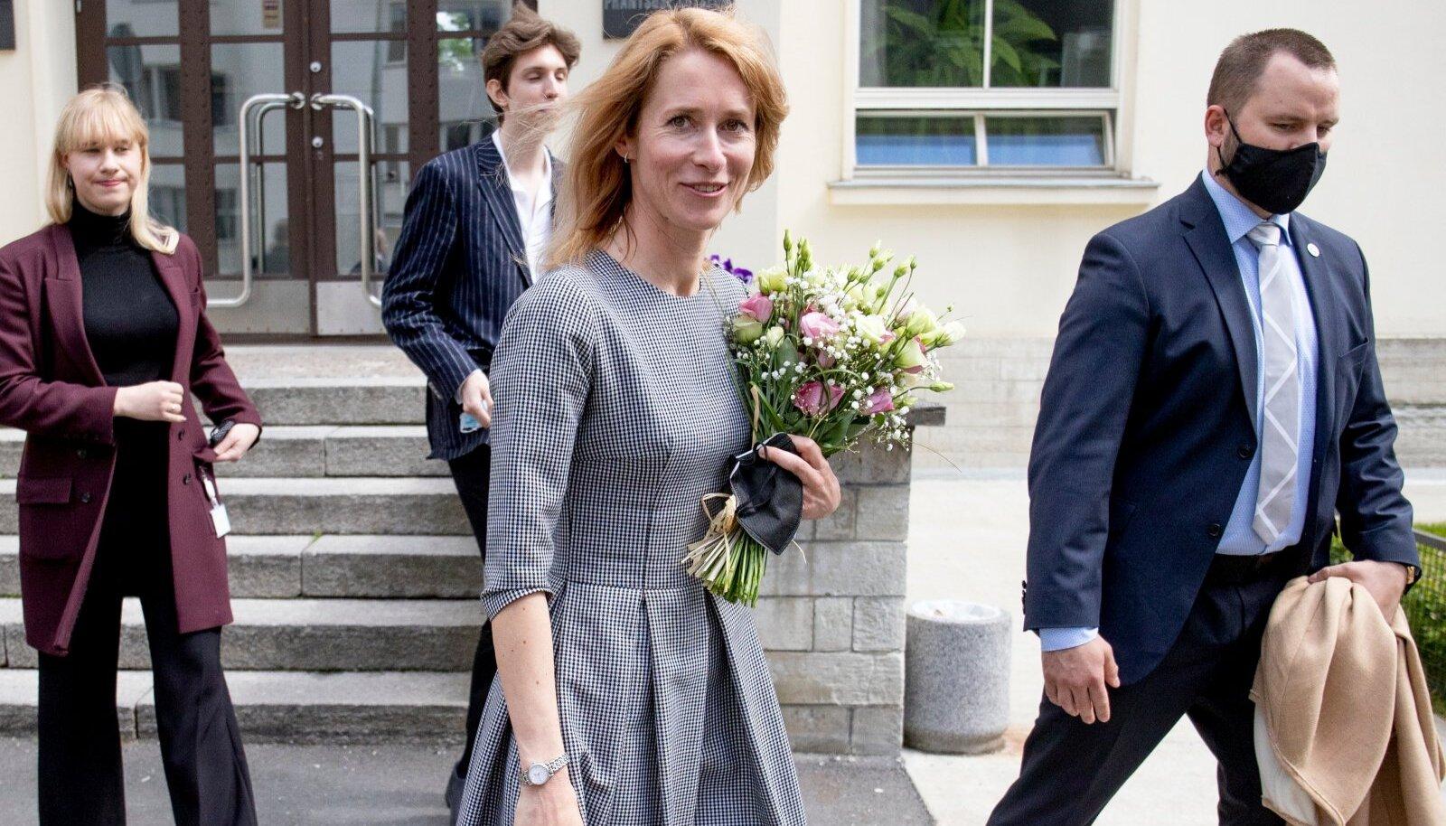 Peaminister Kaja Kallas Tallinna Prantsuse Lütseumis