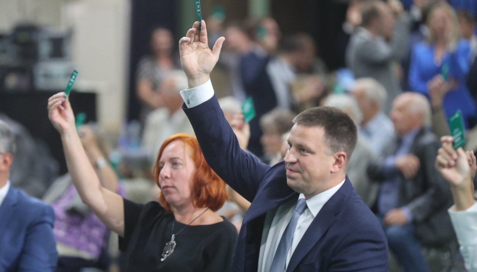 Mailis Reps ja Jüri Ratas Keskerakonna kongressil