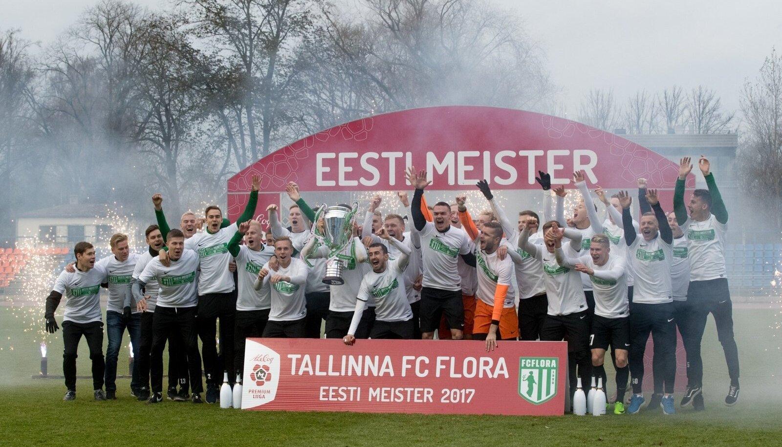 Tänavu tuli Eesti meistriks FC Flora.