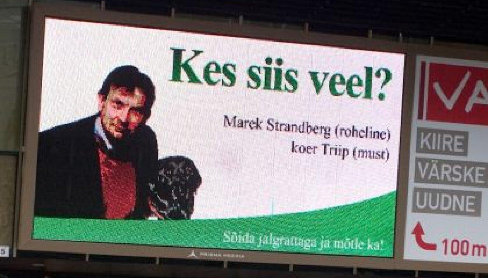 Rohelised  reklaamivad end tänaval