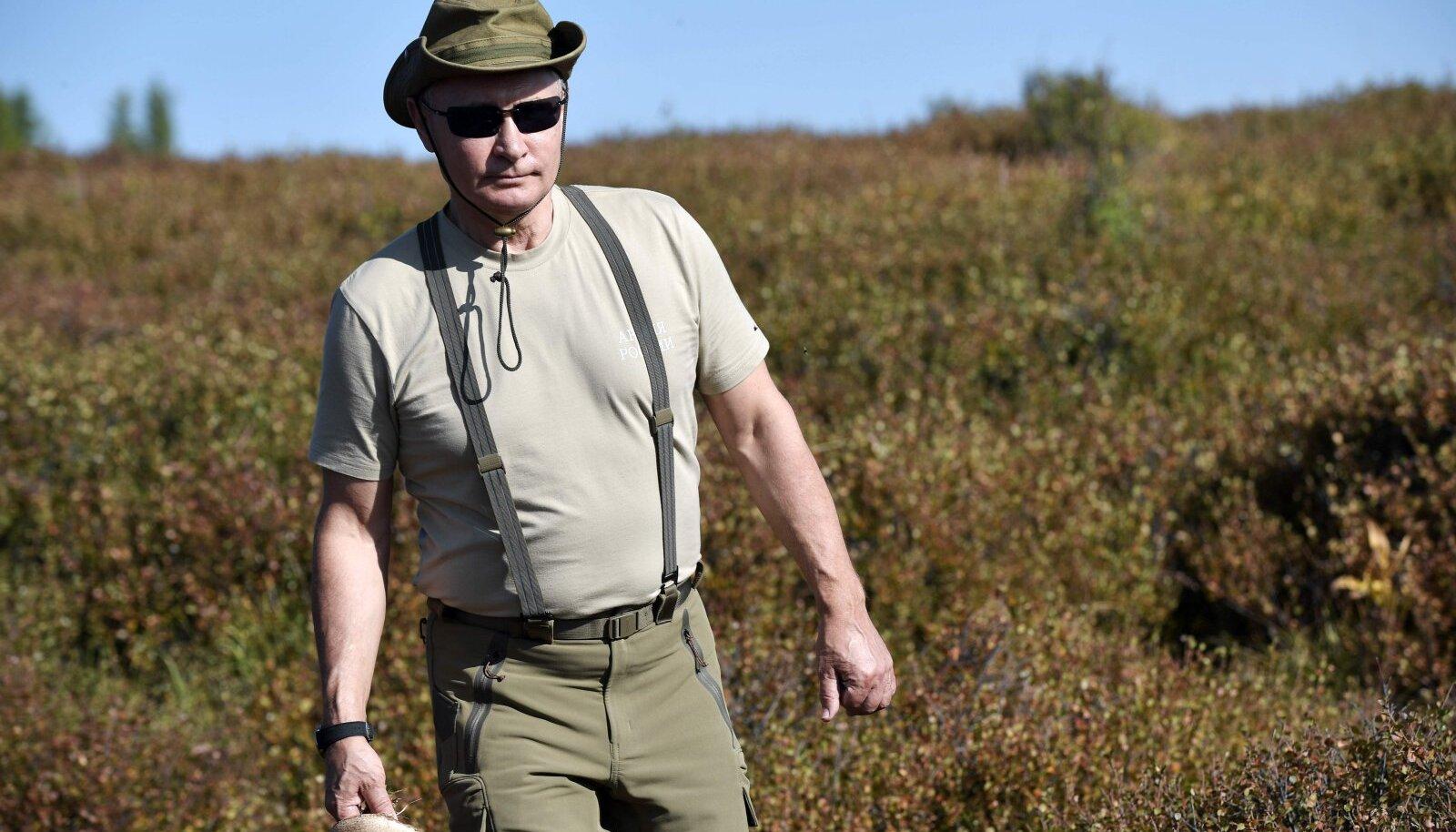 Vene riigipea Vladimir Putin mullu augustis Tuvas väiksel puhkusel.