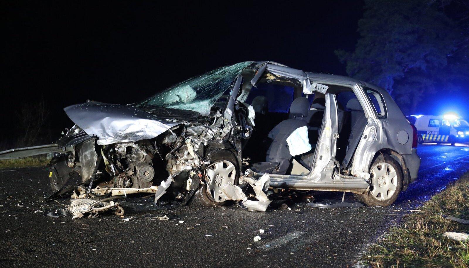 15. jaanuaril avariisse sattunud sõiduauto.